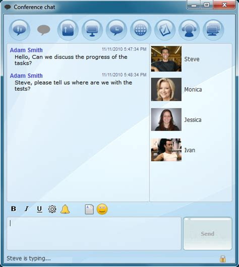 Text Room by Instant Text Messaging Chat Rooms For Business Brosix