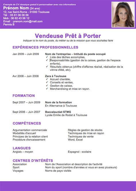 Exemple Lettre De Motivation Réinscription Lycée resume format modele de cv bachelier