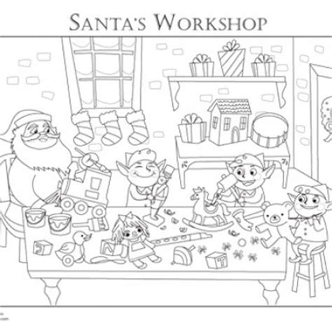 coloring pictures of santa workshop 26 easy last minute christmas printables yo free sles