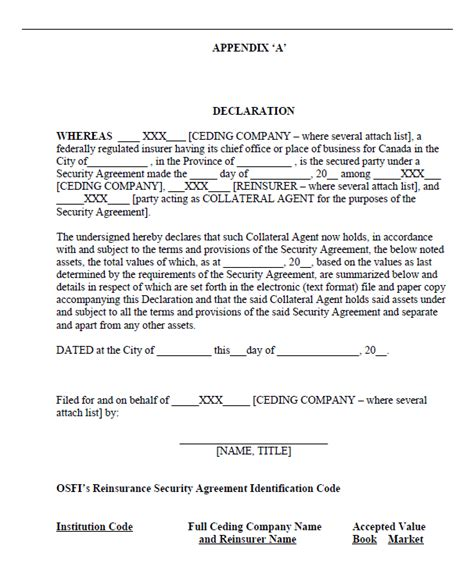 collateral agreement template collateral security agreement sle collateral security