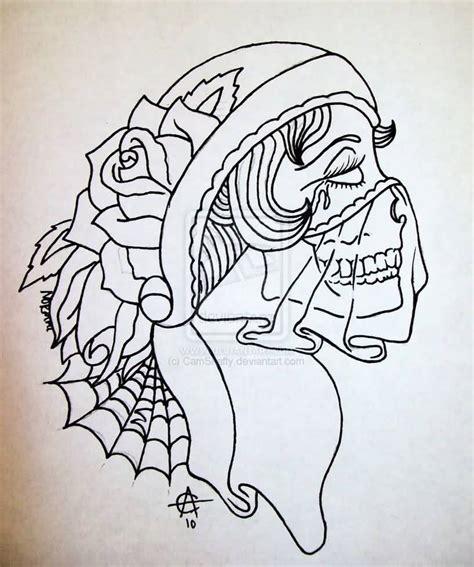 skull tattoo outline designs images designs