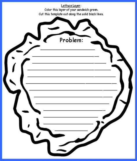sandwich book report printable template image gallery lettuce leaf template