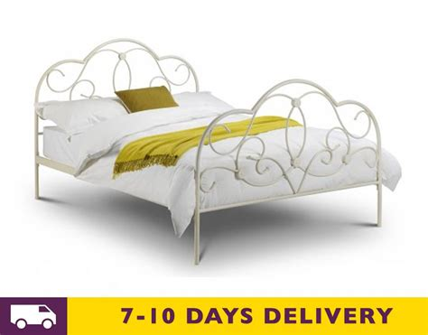 Julian Bowen Aztec Bed Frame King Metal Bed Frame Wood Box And Foundations Solomon Brass Metal Bed Frame In Serene