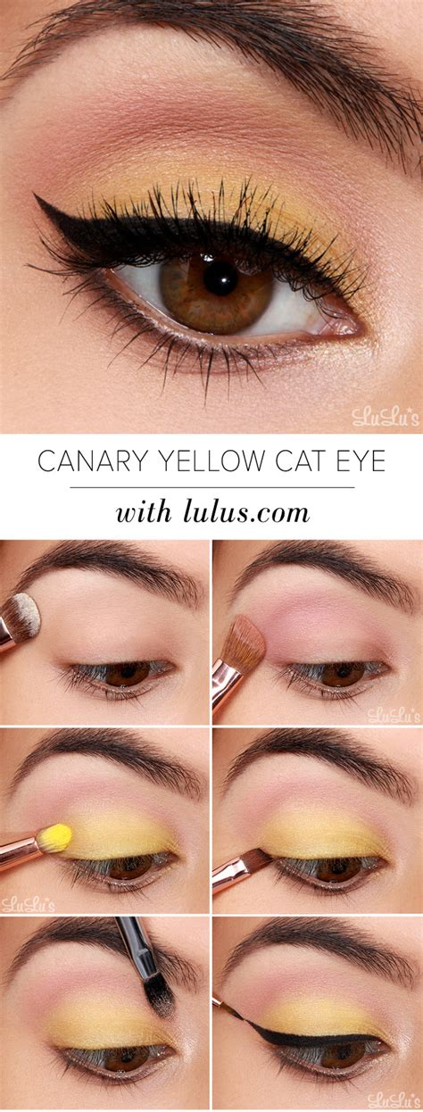 tutorial makeup lulu lulus how to canary yellow eye makeup tutorial lulus
