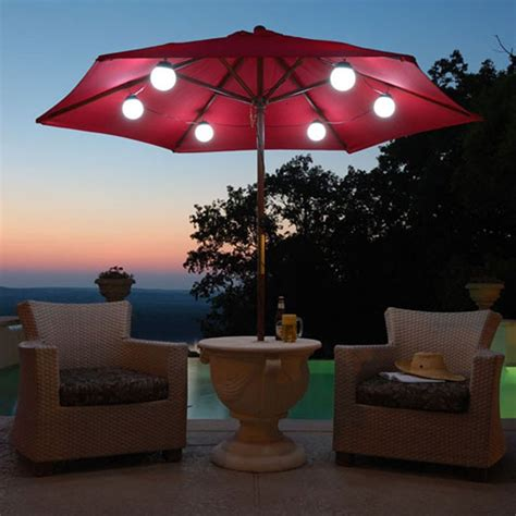 Patio Umbrella Lights Patio Umbrellas With Led Lights Galtech 11 Ft Auto Tilt Patio Umbrella With Led Umbrella