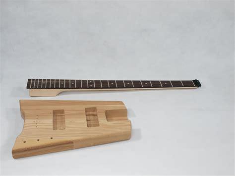 solo sb style diy headless bass guitar kit maple neck ash body solo  gear