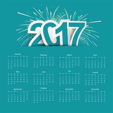new year 2017 dates 2017 calend 225 baixar vetores gr 225 tis