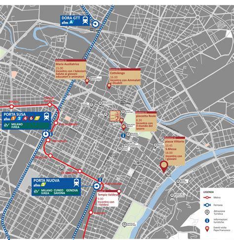 mappa torino porta susa papa francesco a torino i treni sfm per il 21 giugno 2015