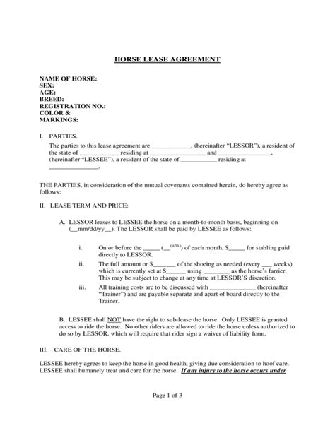 agistment agreement template lease agreement template best image konpax 2017