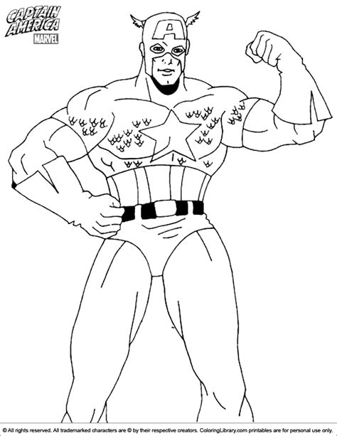 Captain America Coloring Page Coloring Home America Coloring Page