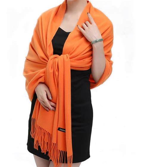 orange unisex pashima scarf the tie rack australia