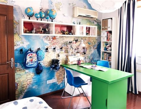 travel themed office decor world travel themed workspace interior design ideas