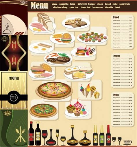 free table top restaurant menu templates breakfast menu