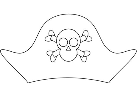 pirate hat coloring page | free printable coloring pages