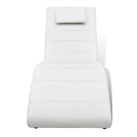 chaise white vidaxl co uk white artificial leather chaise longue with