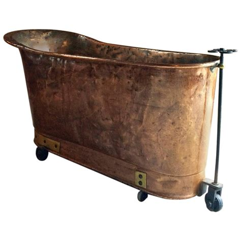 french bathtubs antique french copper bath victorian 19th century casters