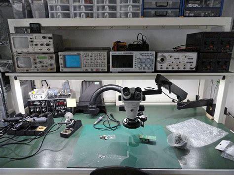 electronic bench clean white electronics workbench closeup pinteres