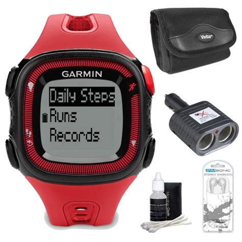 Garmin Forerunner 15 Large Black buydig garmin forerunner 15 large black bundle