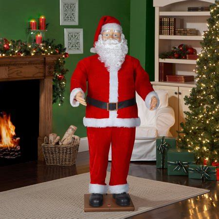 walmart singing and dancing santa claus 6 size animated santa with realistic walmart