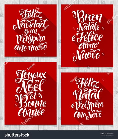 happy new year in italy language merry and happy new year lettering set in