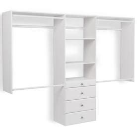 shop wood closet organizers at lowes