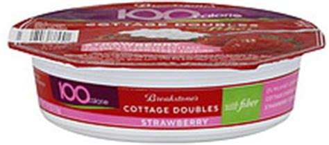 Cottage Cheese Fiber by Breakstone S Cottage Doubles With Fiber Strawberry 3 9 Oz