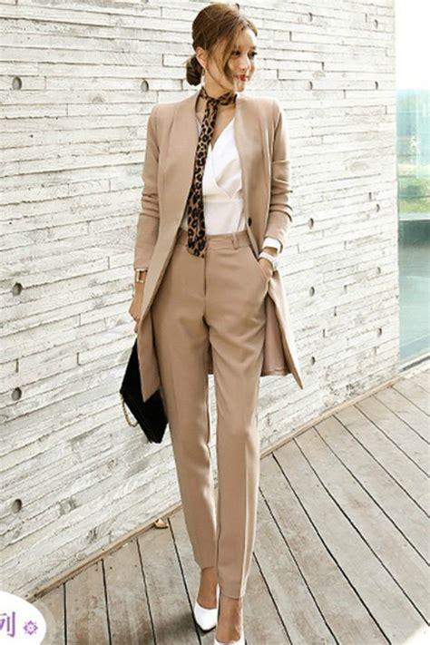 Set Wanita office set wanita korea blazer trousers jyg19055khaki