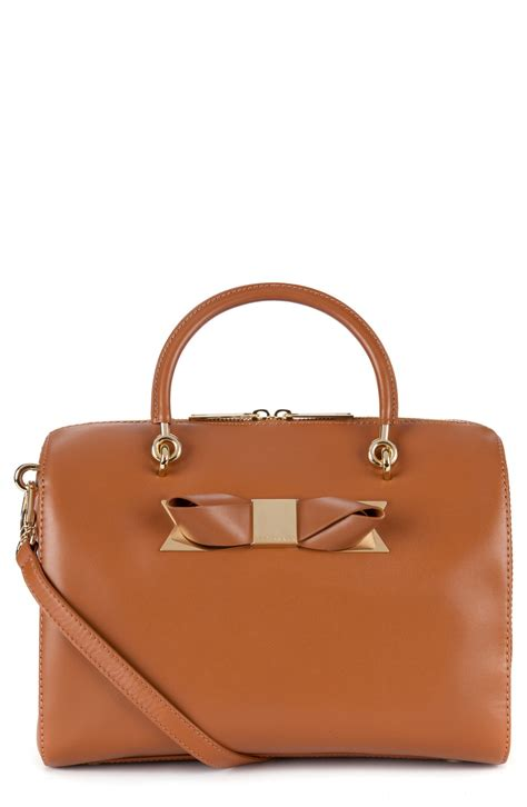 Ted Baker Ligth Browen ted baker cantico leather bowler bag in brown light brown