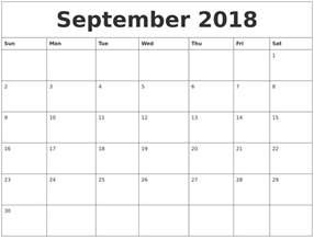 Printable Calendar September 2018 January 2019 Calendar Pages