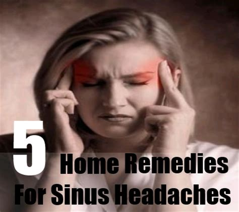 home remedies for sinus headaches treatment and