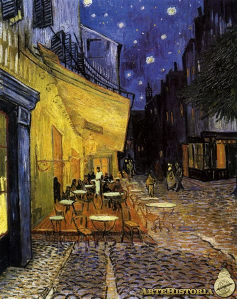 terraza de cafe por la noche artehistoriacom