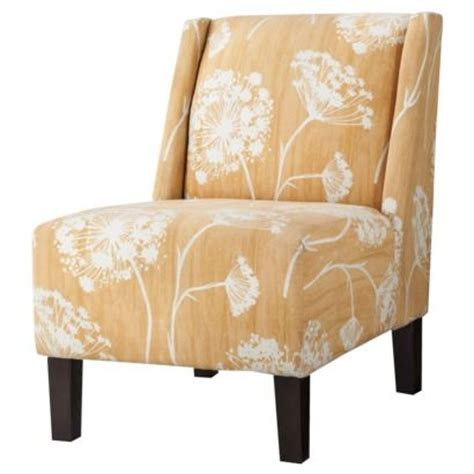 yellow patterned slipper chair 17 best images about shelli s modern cabin living room on