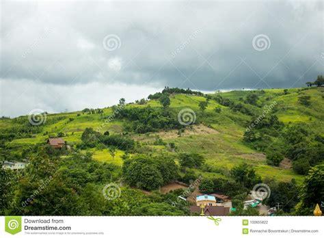 beautiful landscape  tropical mountain  cloudy sky