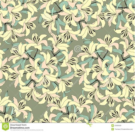yellow lily pattern seamless pattern with yellow flowers royalty free stock