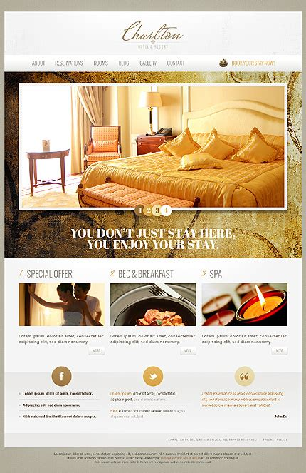 website template luxury hotels and carousels on pinterest attractive relaxing hotel website templates entheos