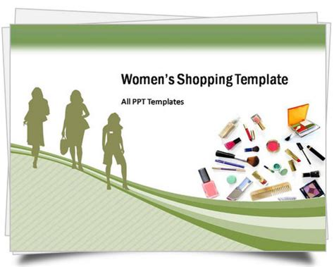 Powerpoint Women Shopping Template Shopping Ppt Templates Free