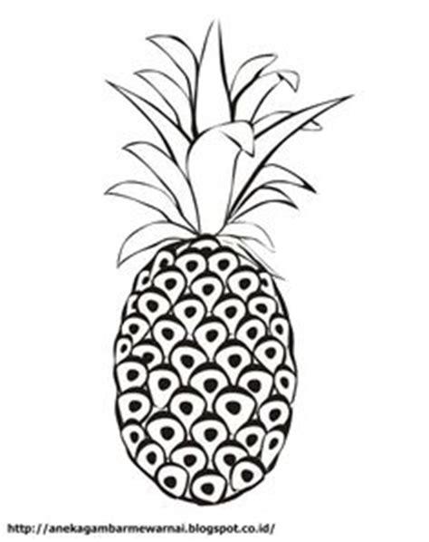 gambar buah nanas untuk diwarnai mewarnai gambar