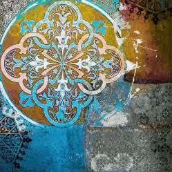 Modern Shower Design arabic motif 01c painting by corporate art task force
