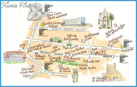 map of mexico city mexico mexico city map tourist attractions travelsfinders