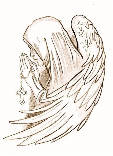 angel tattoo drawings 25 impressive praying designs and ideas