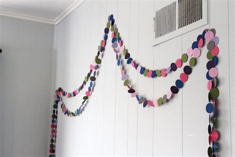 how to make easy room decorations diy circle garland a cheap and easy kid s room decorating idea thriving home