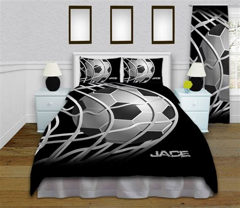 soccer comforter set boys soccer duvet cover teen soccer bedding by