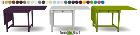 Foldable Dining Table Around The Sims 4 Custom Content Download Ikea