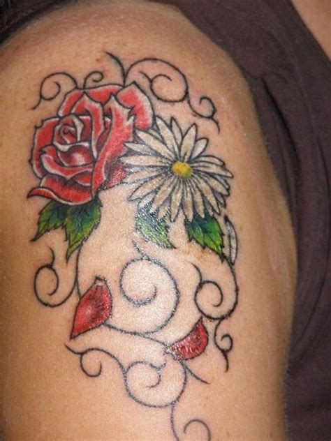 rose and daisy tattoo tattoos