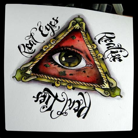 illuminati eye tattoo designs biomechanical illuminati eye design