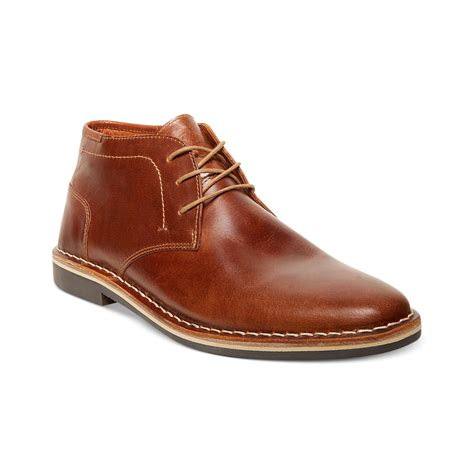 brown chukka boots steve madden harken chukka boots in brown for cognac