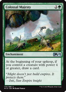 colossal majesty enchantment cards mtg salvation
