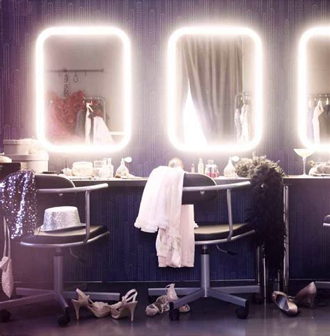 makeup table with mirror and lights ikea fun led mirrors from ikea this fall bathrooms