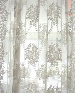Vintage french lace curtain panel cottage chic