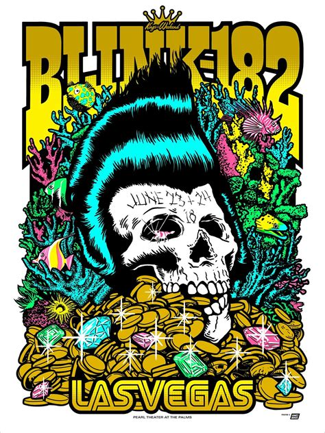 Bros Blink inside the rock poster frame ames bros blink 182 las